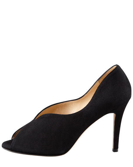 chesley high-vamp peep-toe pump