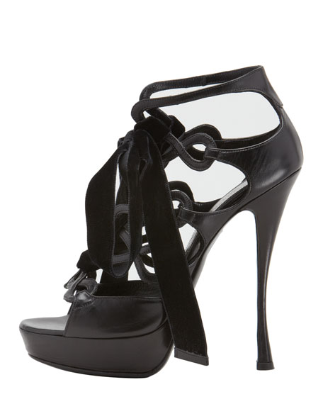 Lace-Up Platform Sandal
