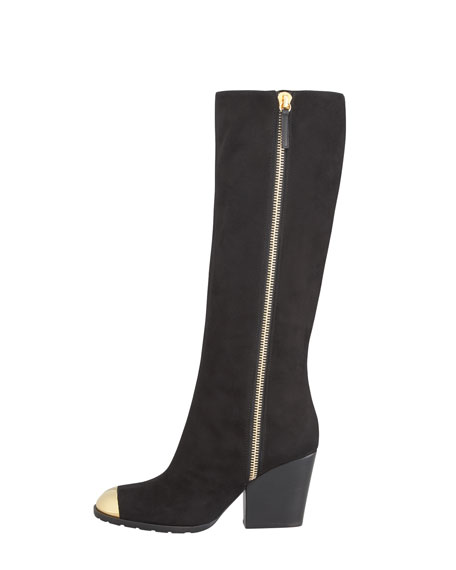 Cap-Toe Side-Zip Boot