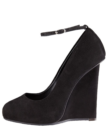 Suede Wedge Pump