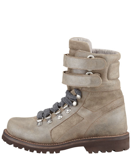 Metallic Suede Hiking Boot