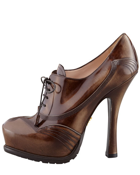 Spazzolato Lace-Up Pump