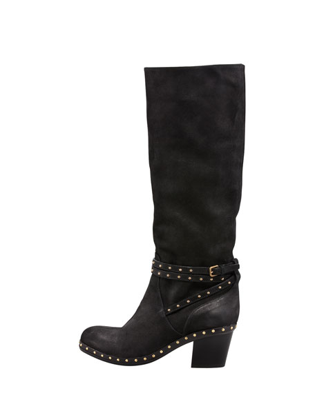Belted To-the-Knee Boot