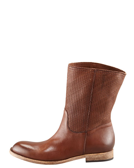 Woven Leather Boot