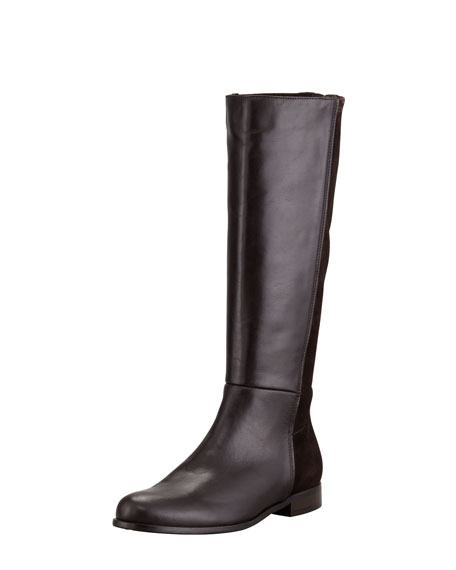 Dewy Weatherproof Flat Knee Boot