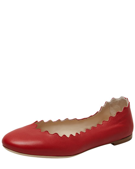 Soft Napa Leather Ballerina Flat