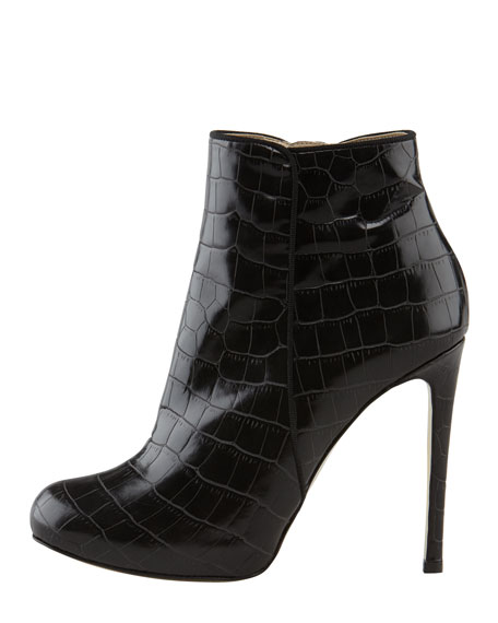 Faux-Crocodile Bootie