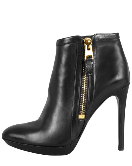 Outside-Zip Ankle Bootie