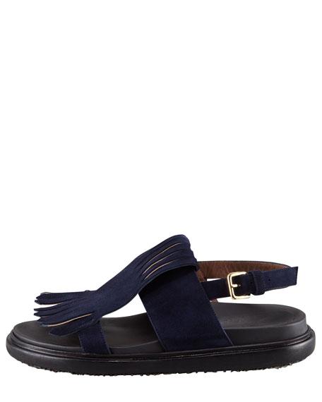 Suede Kilty Sandals