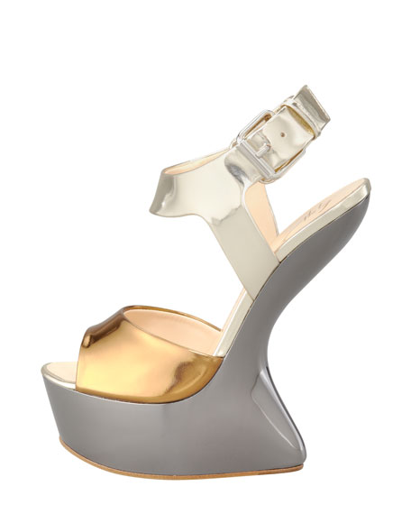 Metallic No-Heel Sandal