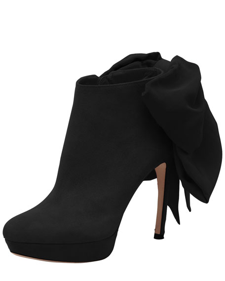Bow-Back Ankle Boot