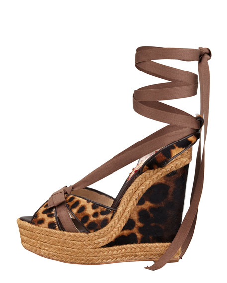 Isabelle Calf Hair Red Sole Wedge