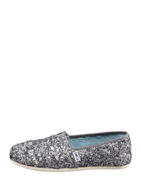 dc02f940850 TOMS Sequined Matte Slip-On