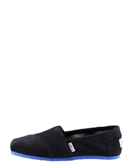 Corduroy Slip-On, Black
