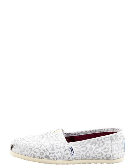 Snow-Leopard Canvas Slip-On