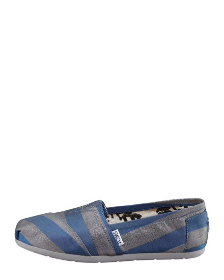 Preston Metallic Striped Canvas Slip-On