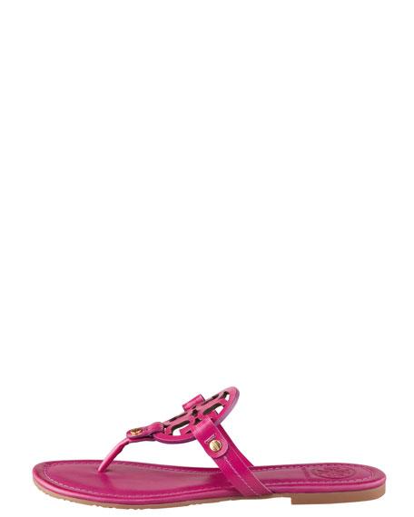 Miller Logo Flat Thong Sandal, Party Fuchsia