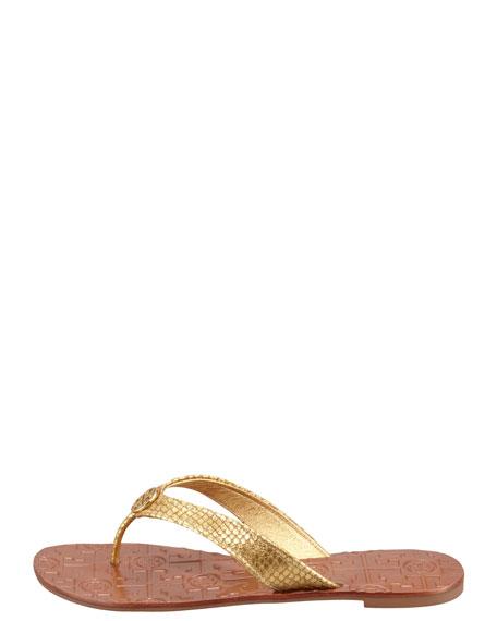 Thora2 Metallic Thong Sandal