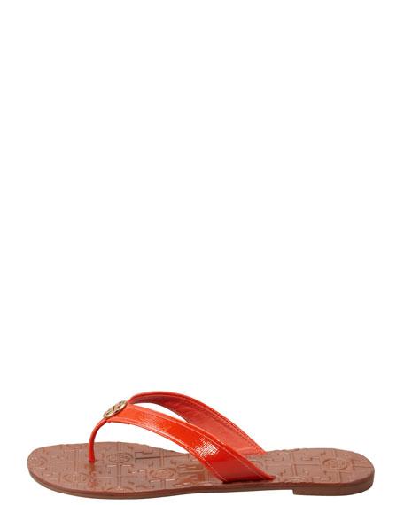 Thora2 Patent Thong Sandal, Flame Red