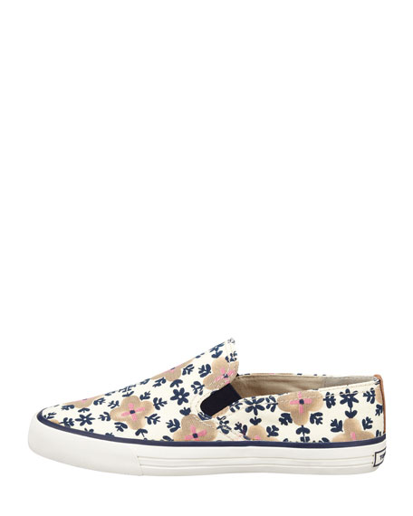 Miles Canvas Slip-On Sneaker, Floral Pattern