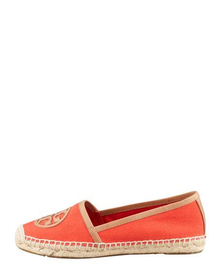 Angus Flat Espadrille Slip-On, Flame Red