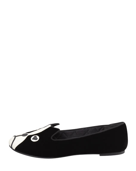 Shorty Velvet Dog Loafer