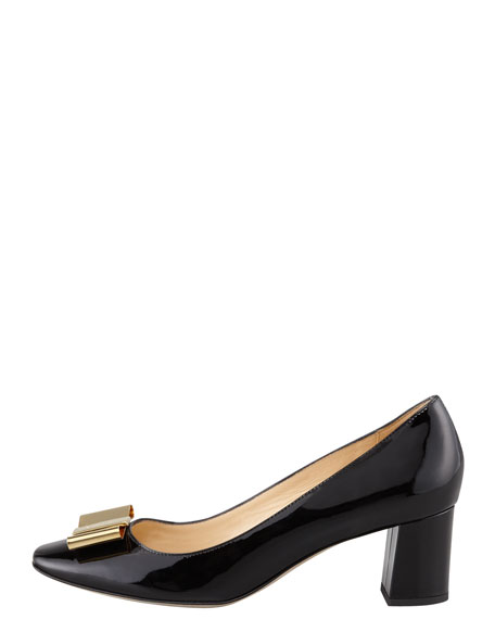 dijon metal-bow pump, black