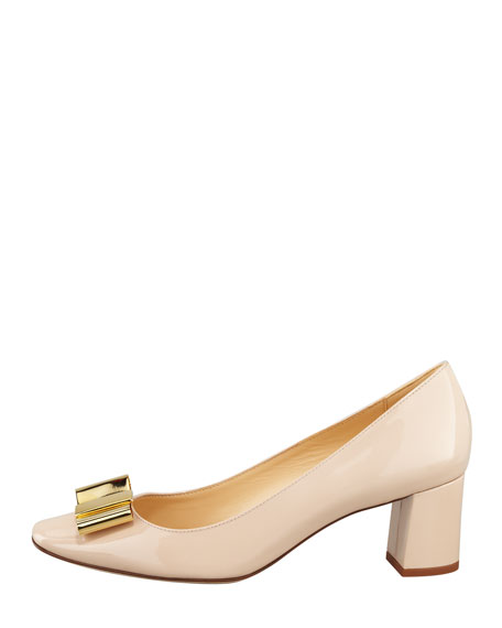 dijon metal-bow pump, doe taupe