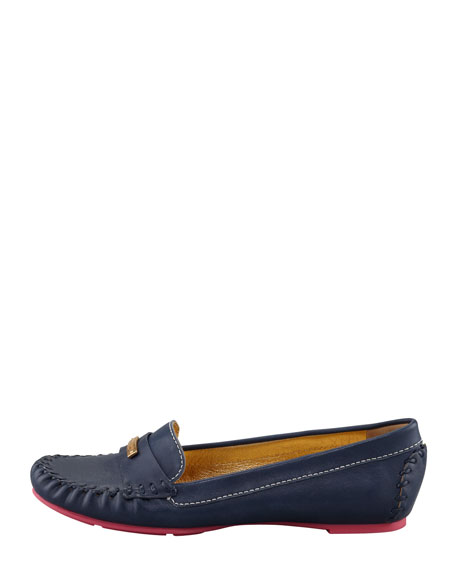 weekend contrast-sole loafer