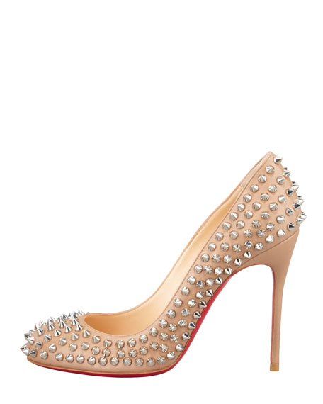 Fifi Spikes Red Sole Pump, Corde