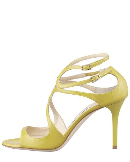 Ivette Patent Strappy Sandal, Citrine