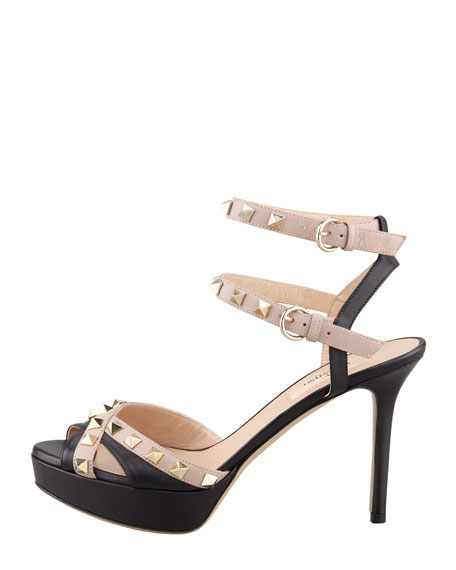 Studded Double Ankle-Strap Sandal