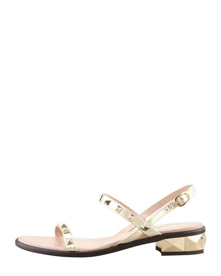 Rockstud Low-Heel Sandal