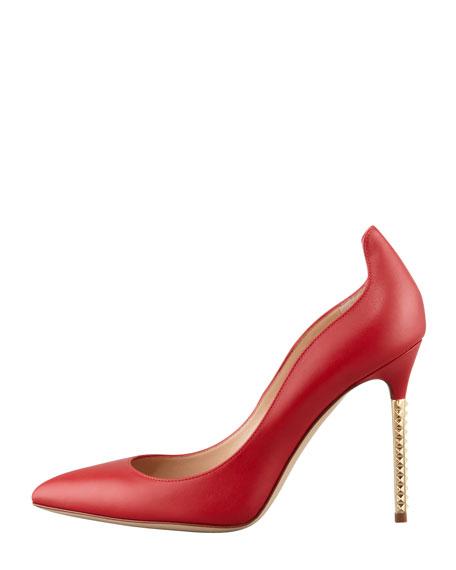 Extreme Heel Napa Pump, Rosso