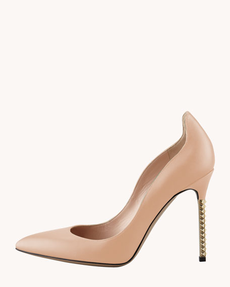 Extreme Heel Nappa Pump, Soft Noisette