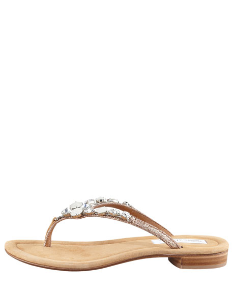Miss Tropy Crystal Thong Sandal