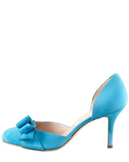 Miss Dodo Crepe de Chine Pump, Blue