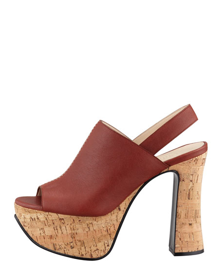 Alice Leather & Cork Platform Sandal