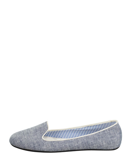 Sheila Chambray Smoking Slipper