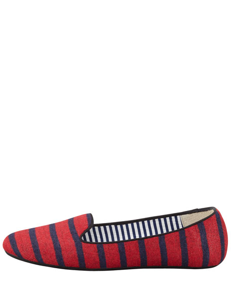 Sheila Striped Wool Smoking Slipper