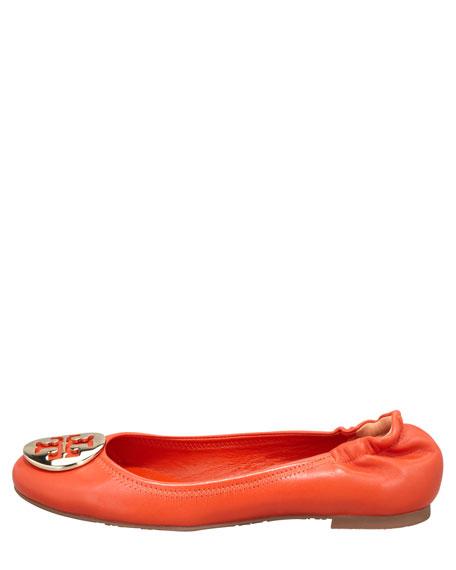 Reva Mestico Logo Ballerina Flat, Fire Orange