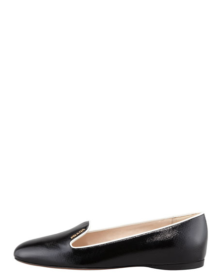 Bicolor Patent Smoking Slipper