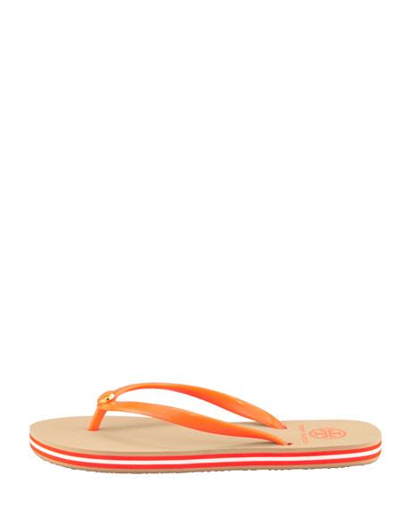 Neon Striped Rubber Flip-Flop