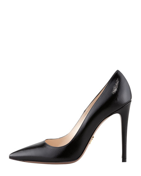 Prada Textured Pointed-Toe Pumps cheap pay with paypal jipa3e