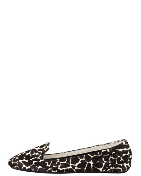 Wild-Thing Giraffe-Print Calf Hair Slipper