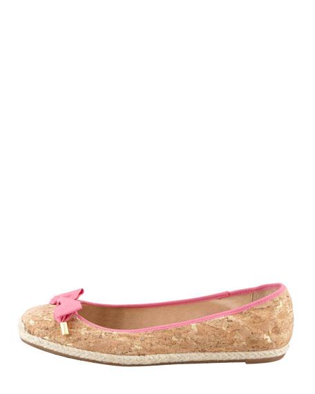 valarie cork ballerina flat, pink