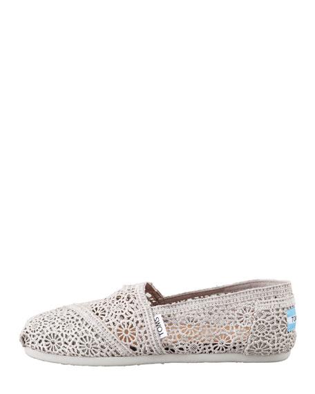 Crochet Slip-On, Silver