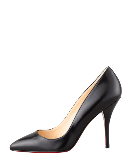 Batignolles Leather Pointed Red Sole Pump