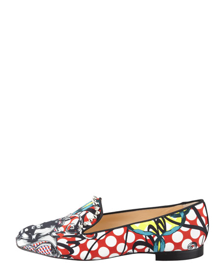 Sakouette Face Polka-Dot Fabric Loafer