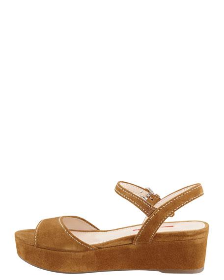 Suede Platform Sandal